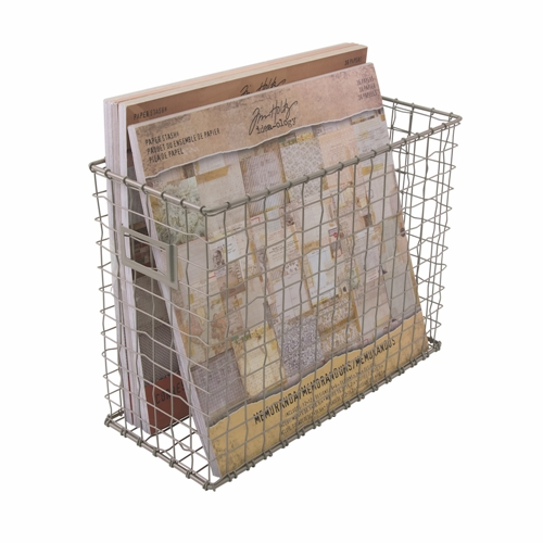 Charmant Tim Holtz Idea Ology WIRED FILE BASKET Storage Solutions CH93809 Preview  Image Shadow