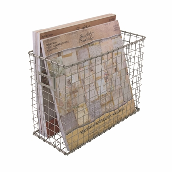 Tim Holtz Idea-ology WIRED FILE BASKET Storage Solutions CH93809  sc 1 st  Simon Says St& & Tim Holtz Idea-ology WIRED FILE BASKET Storage Solutions CH93809 at ...
