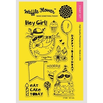 Waffle Flower HEY GIRL Clear Stamp Set 271088