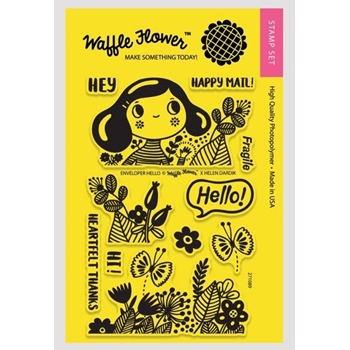 Waffle Flower ENVELOPER HELLO Clear Stamp Set 271089
