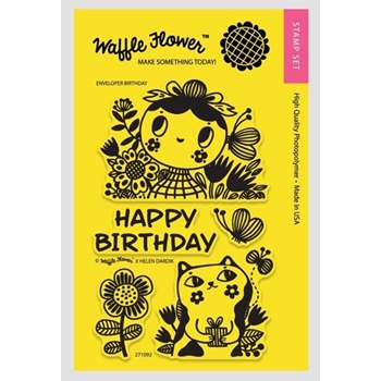 Waffle Flower ENVELOPER BIRTHDAY Clear Stamp Set 271092