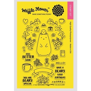 Waffle Flower BEAR AND BIRD Clear Stamp Set 271086