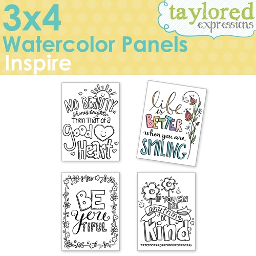 Taylored Expressions 3 x 4 Inch WATERCOLOR PANELS INSPIRE TEWP06 Preview Image