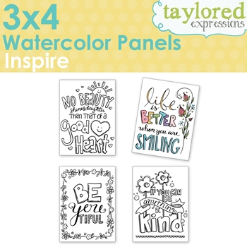 Taylored Expressions 3 x 4 Inch WATERCOLOR PANELS INSPIRE TEWP06