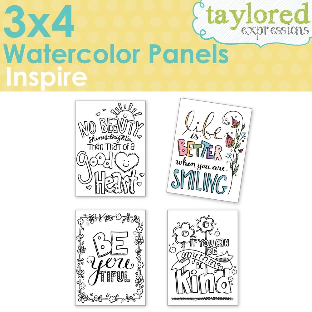 Taylored Expressions 3 x 4 Inch WATERCOLOR PANELS INSPIRE TEWP06 zoom image
