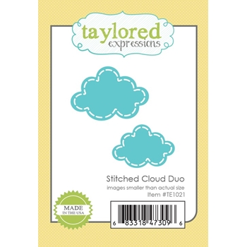 Taylored Expressions STITCHED CLOUD DUO Die Set TE1021