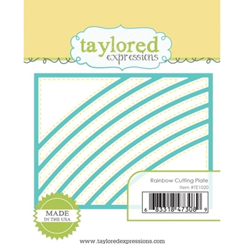 Taylored Expressions RAINBOW CUTTING PLATE Die TE1020