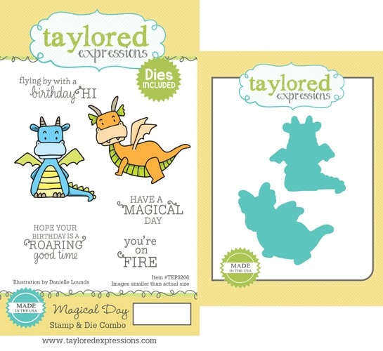Taylored Expressions MAGICAL DAY Cling Stamp and Die Combo TEPS206 zoom image