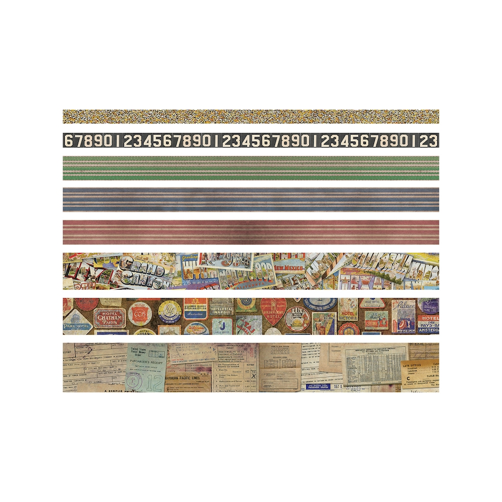 Tim Holtz Idea-ology TRAVEL Design Tape Paperie TH93352 zoom image