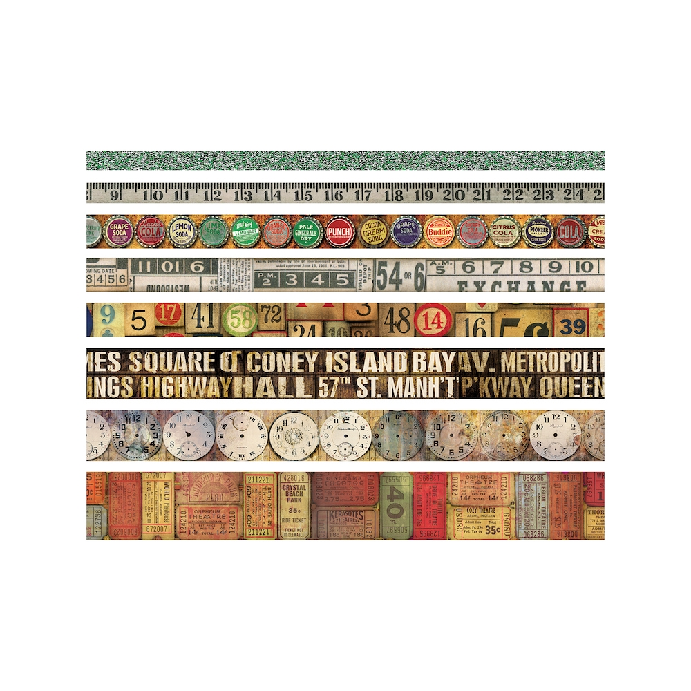 Tim Holtz Idea-ology VINTAGE Design Tape Paperie TH93353 zoom image