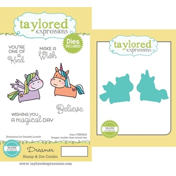 Taylored Expressions DREAMER Cling Stamp and Die Combo TEPS205