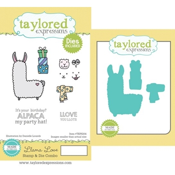 Taylored Expressions LLAMA LOVE Cling Stamp and Die Set TEPS204
