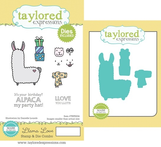 Taylored Expressions LLAMA LOVE Cling Stamp and Die Set TEPS204 zoom image