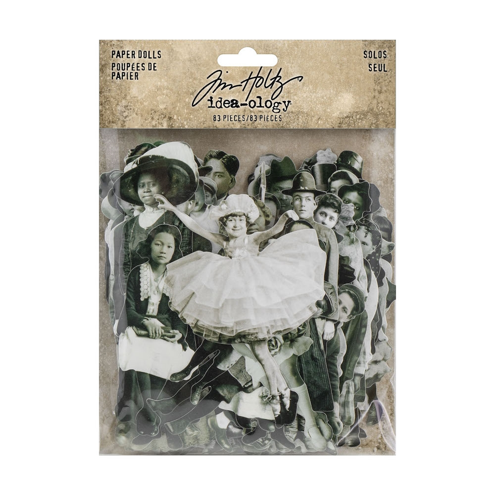 Tim Holtz Idea-ology PAPER DOLLS Paperie TH93555 zoom image