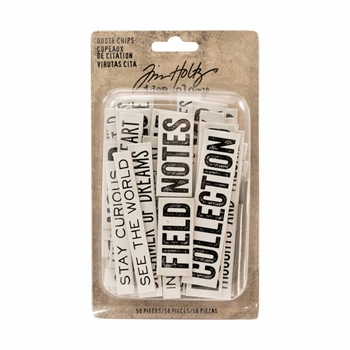 Tim Holtz Idea-ology QUOTE CHIPS Paperie TH93563