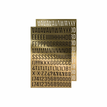 RESERVE Tim Holtz Idea-ology GOLD ALPHA Metallic Stickers Paperie TH93560