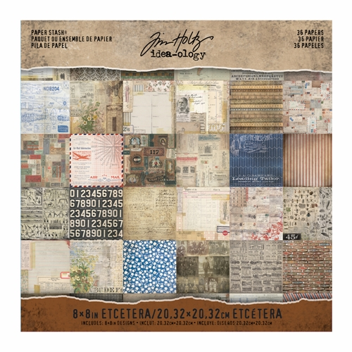 Tim Holtz Idea-ology 8 x 8 Paper Stash ETCETERA Paperie TH93551 Preview Image