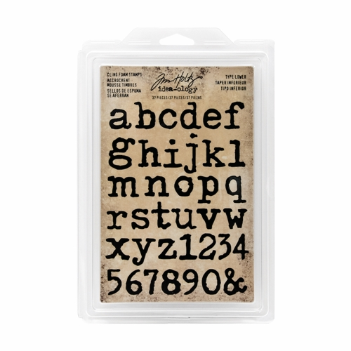 Tim Holtz Idea-ology TYPE LOWER Cling Foam Stamps TH93579 Preview Image