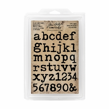 RESERVE Tim Holtz Idea-ology TYPE LOWER Cling Foam Stamps TH93579