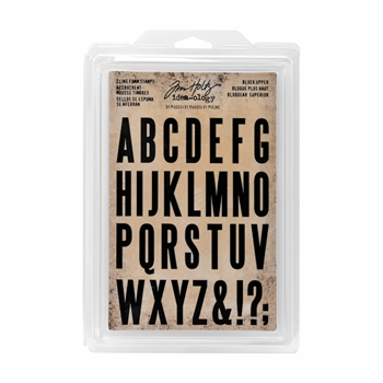 RESERVE Tim Holtz Idea-ology BLOCK UPPER Cling Foam Stamps TH93577