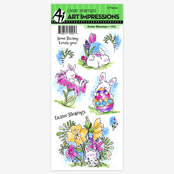 Art Impressions EASTER BLESSINGS Clear Stamps 4886K zoom image