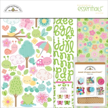 Doodlebug SPRING THINGS Essentials Page Kit 12x12 Inches 5528