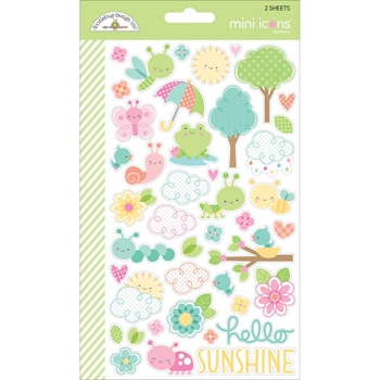 Doodlebug SPRING THINGS Mini Icons Sticker Sheets 5706