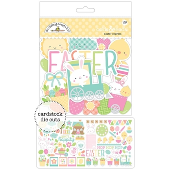 Doodlebug EASTER EXPRESS Odds and Ends Die Cuts 5486