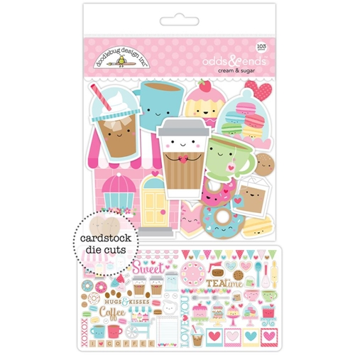 Doodlebug CREAM AND SUGAR Odds and Ends Die Cuts 5484 Preview Image