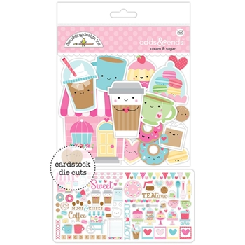 Doodlebug CREAM AND SUGAR Odds and Ends Die Cuts 5484