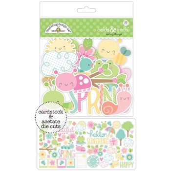 Doodlebug SPRING THINGS Odds and Ends Die Cuts 5485