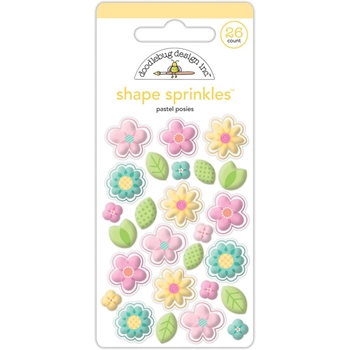 Doodlebug PASTEL POSIES Sprinkles Shapes Spring Things Assortment 5458
