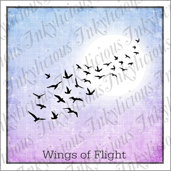 Inkylicious WINGS OF FLIGHT Clear Stamps 829888