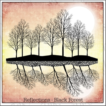 Inkylicious REFLECTIONS BLACK FOREST Clear Stamps 829871