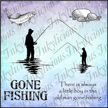 Inkylicious FISHERMANS FRIEND Clear Stamps 829857