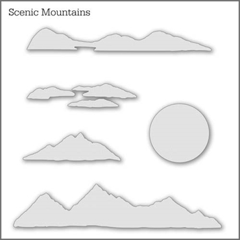Inkylicious SCENIC MOUNTAINS Stencil Set 829475