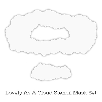 Inkylicious LOVELY AS A CLOUD Stencil Set 829451