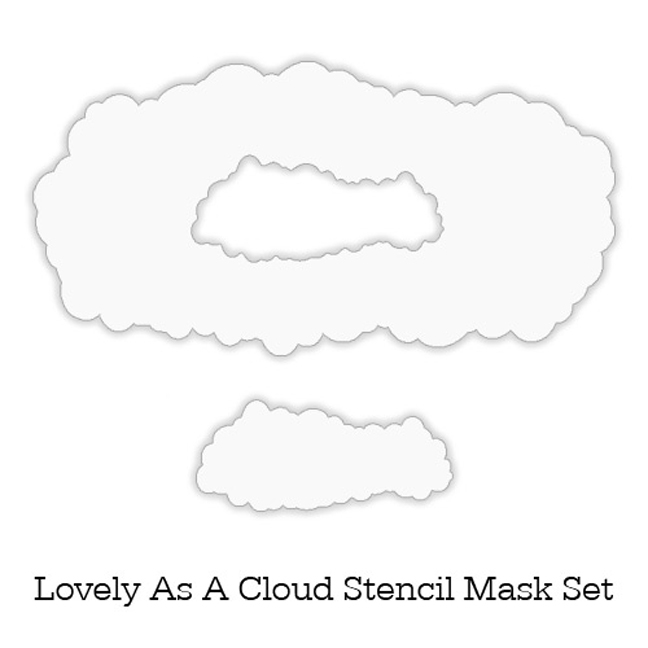 Inkylicious LOVELY AS A CLOUD Stencil Set 829451 zoom image