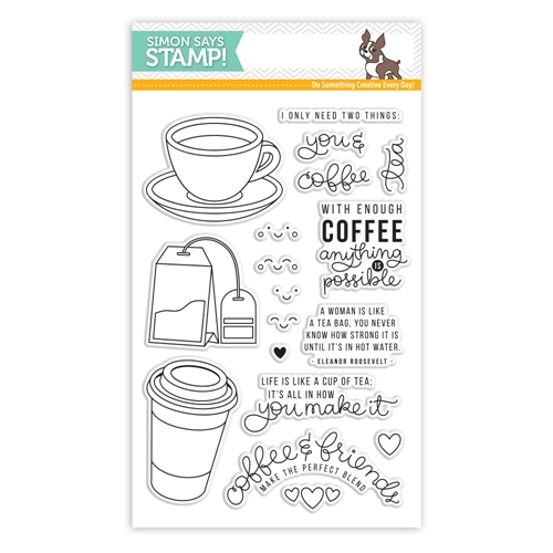 Simon Says Stamp Coffee and Tea Clear Stamp Set