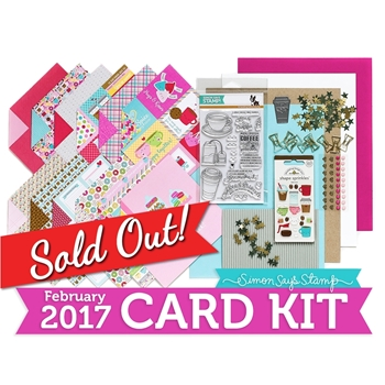 Simon Says Stamp Card Kit of The Month FEBRUARY 2017 COFFEE TEA AND COCOA CK0217