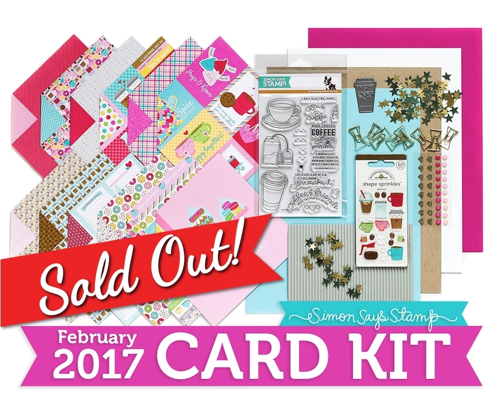 Simon Says Stamp Card Kit of The Month FEBRUARY 2017 COFFEE TEA AND COCOA CK0217 zoom image