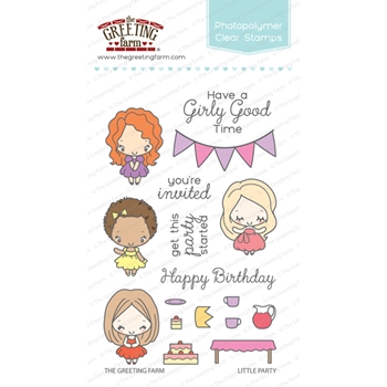 The Greeting Farm LITTLE PARTY Clear Stamps TGF288