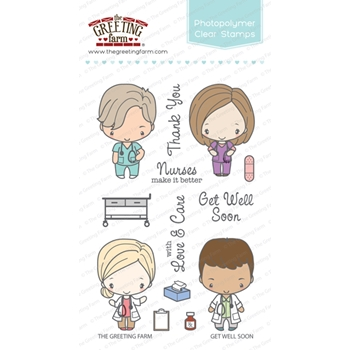 The Greeting Farm GET WELL SOON Clear Stamps TGF290