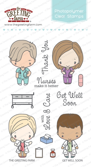 The Greeting Farm GET WELL SOON Clear Stamps TGF290 zoom image