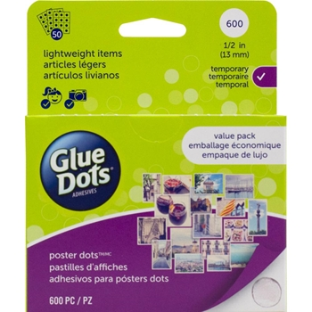 Glue Dots POSTER DOT Sheets Value Pack 23549