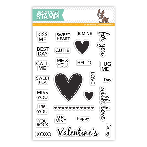 Simon Says Clear Stamps CANDY HEARTS SSS101717 Preview Image