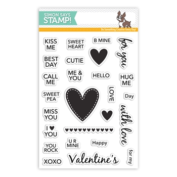 Simon Says Clear Stamps CANDY HEARTS SSS101717