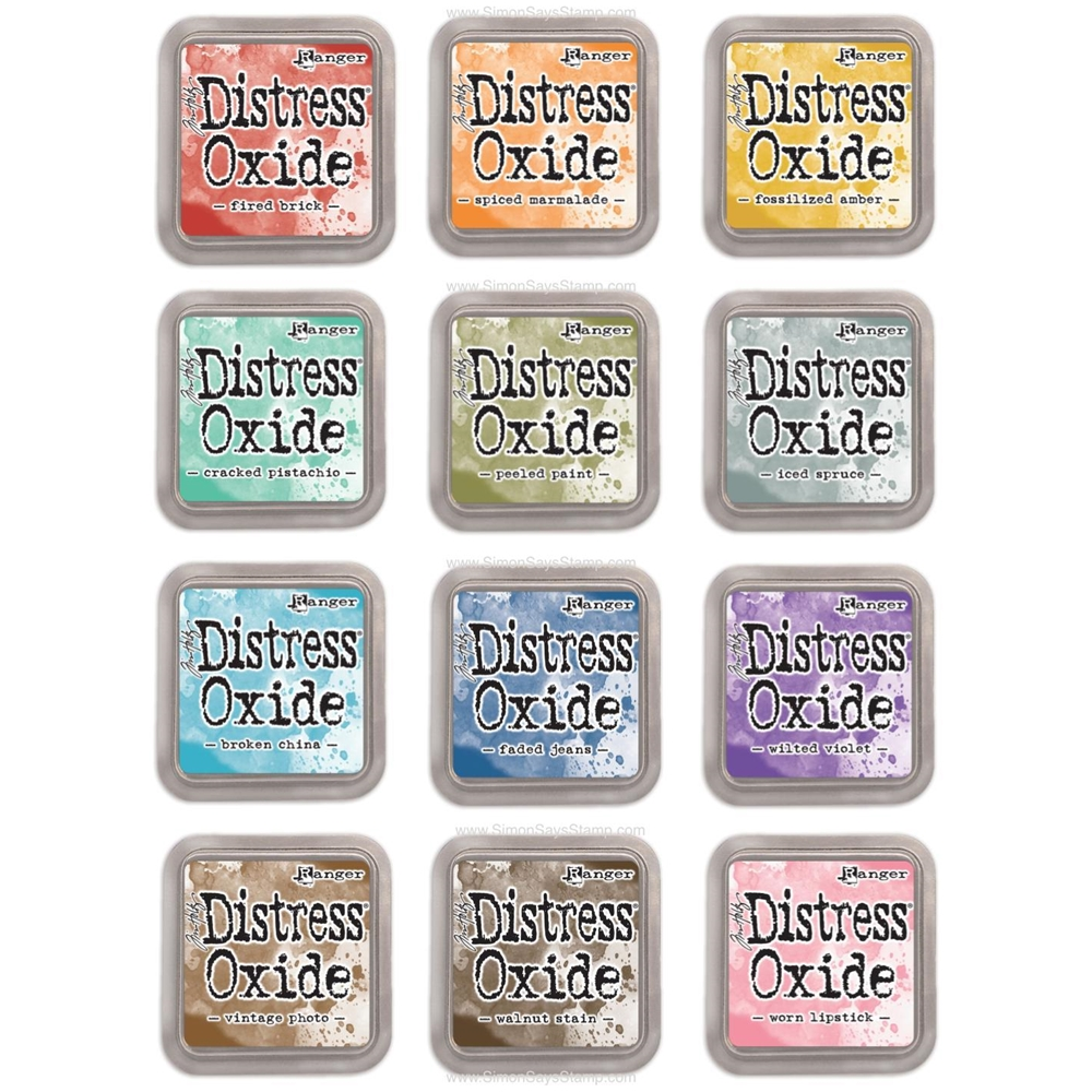 Tim Holtz Distress OXIDE INK PAD SET OF 12 Ranger RANGER97 zoom image