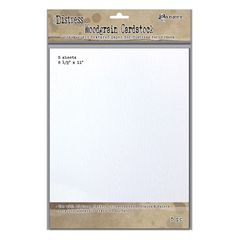 Tim Holtz 8.5 X 11 DISTRESS WOODGRAIN CARDSTOCK Ranger Ink TDA57826