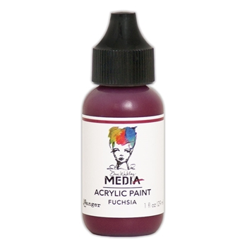 Dina Wakley Ranger FUCHSIA 1OZ Media Acrylic Paints MDQ54009